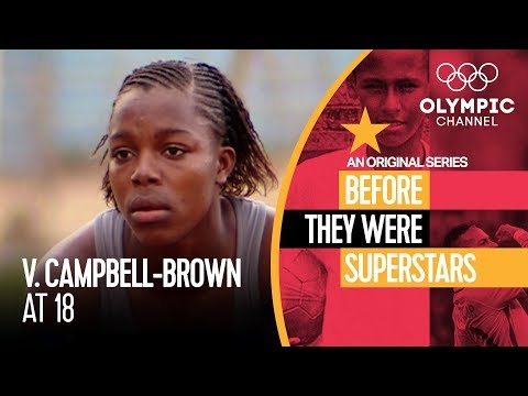 Veronica Campbell-Brown Before Winning 8 Olympic Medals   Before They Were Superstars