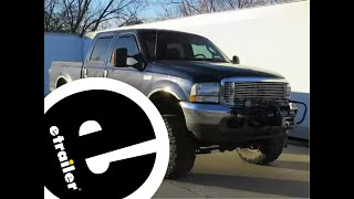 getlinkyoutube.com-Installation of the Curt Trailer Hitch Electric Winch Mount Plate on a 2003 Ford F-250