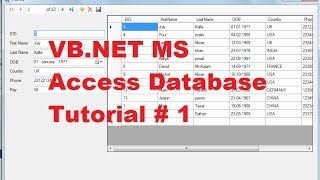 getlinkyoutube.com-VB.NET MS Access Database Tutorial 1 # How to Connect Access Database to VB.Net