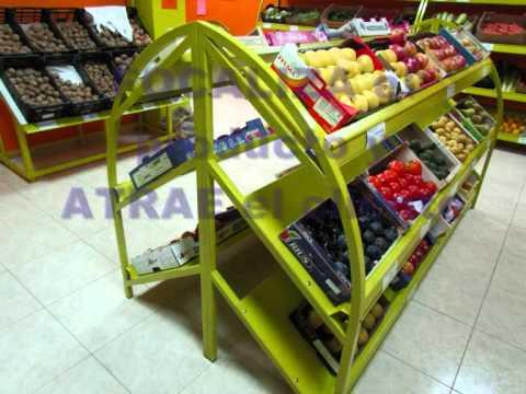 Mobiliario frutería www.MetalDelgado.com