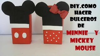 getlinkyoutube.com-COMO HACER DULCEROS DE MINNIE Y MICKEY MOUSE