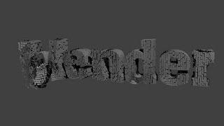 【blender】 テキストが散らばるアニメーション 【初心者・7分】