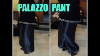 getlinkyoutube.com-HOW TO MAKE PALAZZO PANT
