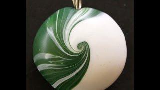 getlinkyoutube.com-Swirl Perlen II , Polymer Clay Swirl Beads, RuthvonG