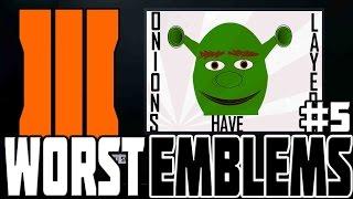 WORST BO3 EMBLEMS #5! Black Ops 3 Funny & Weird Emblems