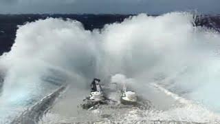 getlinkyoutube.com-QE2 ship in rough seas Queen Elizabeth 2 North Atlantic