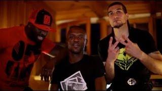 Sefyu en studio avec Abidal et Pinto