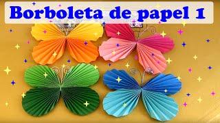 getlinkyoutube.com-COMO FAZER BORBOLETA DE PAPEL MODELO 1