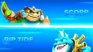 getlinkyoutube.com-Skylanders Swap Foce PVP - Scorp VS Rip Tide