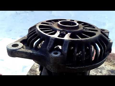 Замена подшипников генератора Mazda familia 323