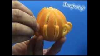 getlinkyoutube.com-Décoration d'une orange