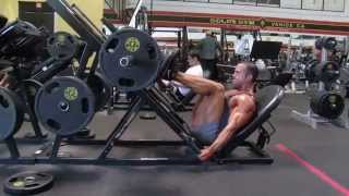 getlinkyoutube.com-Glutes training with Monty Rogers: 2-Leg Press