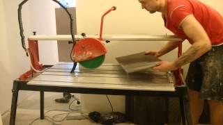 getlinkyoutube.com-Рез плитки под углом в 45 градусов и прямо рез !