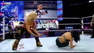 getlinkyoutube.com-Beth Phoenix owns Melina!