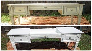 getlinkyoutube.com-HOW I REPAINTED AN OLD VANITY WITHOUT SANDING (DIY)