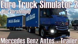 getlinkyoutube.com-ETS2 ★ Mercedes Benz Antos + Trailer ★ Mod Vorstellung [Deutsch/HD]