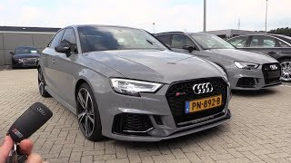 INSIDE the AUDI RS3 Sedan 2018 | SOUND In Depth Review Interior Exterior