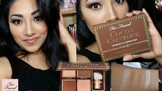 getlinkyoutube.com-ToofacedCosmetics COCOA CONTOUR Chiseled To Perfection Palette Review + Full Demo