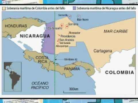 mapas y litigios de Nicaragua
