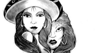 Wizard is drawing some cholas gangsters babes