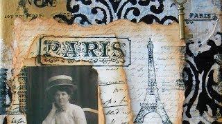 getlinkyoutube.com-Vintage Paris Canvas
