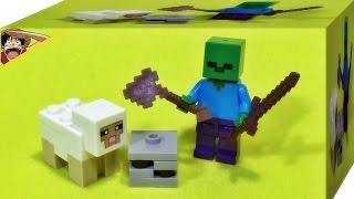 getlinkyoutube.com-decool 마인크래프트 좀비 양 레고 짝퉁 리뷰 Lego knockoff minecraft my world zombie sheep