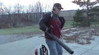 getlinkyoutube.com-Leaf Blower Comparison Featuring Stihl & Redmax Backpacks
