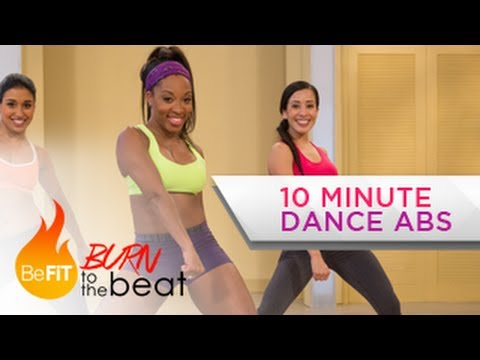 10 Minute Cardio Dance Abs Workout: Burn to the Beat- Keaira LaShae