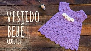 getlinkyoutube.com-Tutorial Vestido Bebé Ganchillo | Crochet