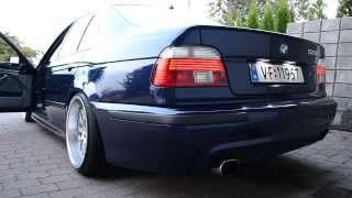 getlinkyoutube.com-BMW E39 528i Muffler deleted - sound