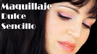 getlinkyoutube.com-Maquillaje Sencillo Dulce Para el Diario