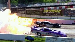 getlinkyoutube.com-6,000 hp HEAT WAVE Jet Car Fires Up with Raw Sound Crazy Speed Drag Race! Over 300 mph