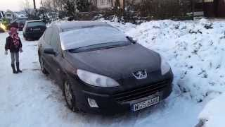 getlinkyoutube.com-Peugeot 407 1.6 HDI cold start -17ºC
