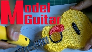 getlinkyoutube.com-DIY ★ Draw Guitar Model ll วาดกีตาร์โมเดล with 3d Pen
