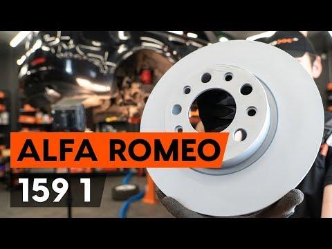 Как заменить задние тормозные диски на ALFA ROMEO 159 1 (939) (ВИДЕОУРОК AUTODOC)