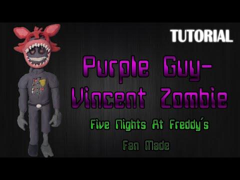 Tutorial Purple Guy - Vincent Zombie en Plastilina   FNaF Fan Made   Fan Art Proyect