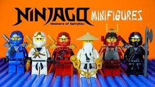 getlinkyoutube.com-LEGO Ninjago Masters of Spinjitzu KnockOff Minifigures Set 1 (Bootleg)
