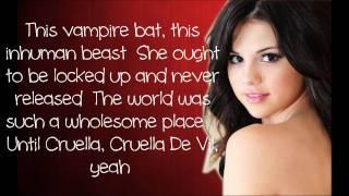 getlinkyoutube.com-Selena Gomez - Cruella De Vil  [Lyrics]