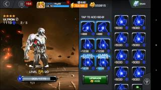 getlinkyoutube.com-Evolutionary Superiority Results and Leveling Ultron 4 STAR [Marvel Contest Of Champions]