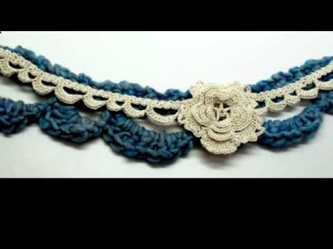 How to Crochet a Lace Scallop Trim by Gwen Fisher with Doceri Software