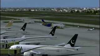getlinkyoutube.com-shaheen air a320 take off to lahore airport pakistan
