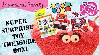 getlinkyoutube.com-Super Surprise TOY Treasure Box Ep9! Disney Tsum Tsum, Minions, Inside Out, Hello Kitty, MLP