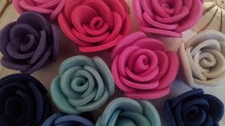 getlinkyoutube.com-✿ ❀Маленькие  розы из фоамирана самый легкий способ✿ ❀