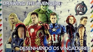 getlinkyoutube.com-Speed Drawing: Os Vingadores