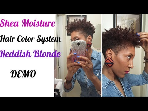 DEMO - Shea Moisture Hair Color Reddish Blonde