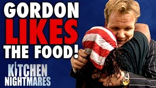 6 Times Gordon Ramsay Actually LIKED THE FOOD! | Kitchen Nightmares COMPILATION width=