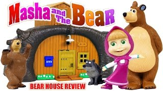 getlinkyoutube.com-Masha and the Bear Build the Bear House Toys from Cartoon Review