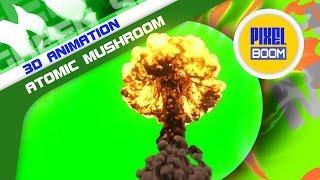 getlinkyoutube.com-Green Screen Bomb Explosion Atomic Mushroom - Footage PixelBoom