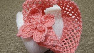 getlinkyoutube.com-Banda para Niña Crochet