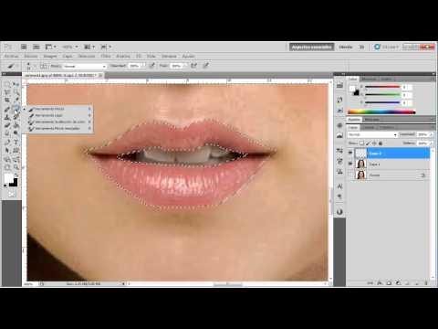 Cómo delinear y Pintar Labios - VideoTutorial de Photoshop
